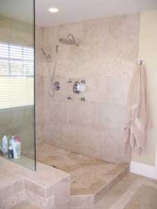 Doorless shower enclosures