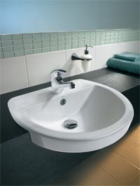 Semi-Recessed Bathroom Sinks