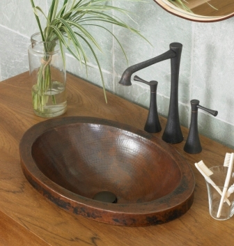 Handcrafted Recycled Copper Sink From Native Trails